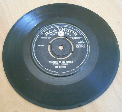 """Jim Reeves - Welcome To My World - 7"""" Inch 45 Vinyl Single - RCA-1342"""