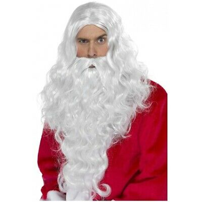 Long White Santa Claus Wig & Beard Moses Fancy Dress Christmas Costume Accessory