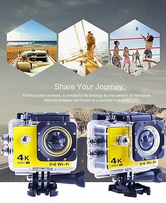 4K HD 1080p 16MP WATERPROOF WIFI SPORTS ACTION CAMERA GOPRO sensor with CE ROHS