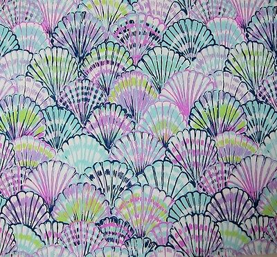 """2017 Lilly Pulitzer Oh Shello Cotton Dobby Fabric BTY x 57"""""""