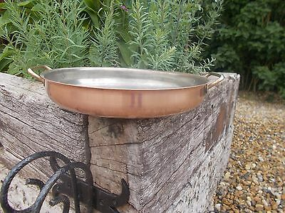 Gorgeous Large Round French Vintage Copper Gratin Pan Display Prop Ref T11/224