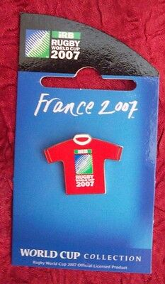 2007 Rugby World Cup in France Jersey (RED) Pin Badge RARE