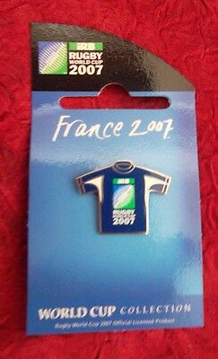 2007 Rugby World Cup in France Jersey (BLUE) Pin Badge RARE