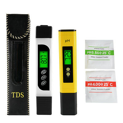 Digital pH Meter + LCD TDS Water Purity PPM Filter Hydroponic Tester Pen BI716