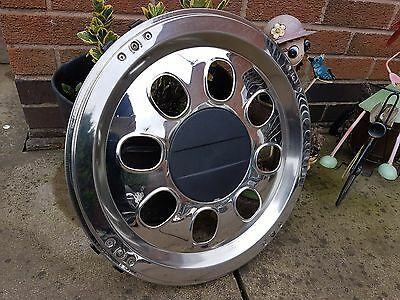 "17.5"" Stainless Steel Wheel Trim Coach Lorry Truck Horsebox Ruspa"