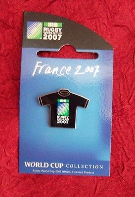 2007 Rugby World Cup in France Jersey Badge PIN  RARE
