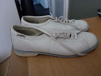 Ten Pin Bowling Shoes - Quality Amf - Size 8 White - Great Condition.