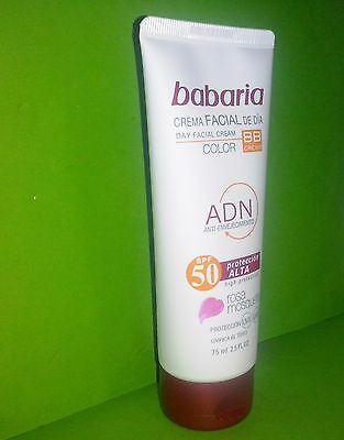 Babaria Crema Facial De Dia Rosa Mosqueta Bb Cream Color Spf 50 75Ml