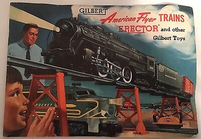 Rare! Gilbert American Flyer Trains 1954 Model 47 Page Catalog Book! Wow!