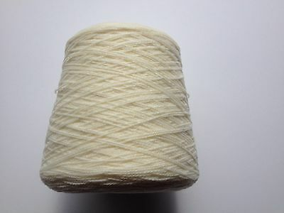 Busby Acrylic Hand/Machine Knitting Wool Cone 4Ply 500gms - Cream