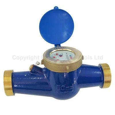 New Agricultural Irrigation Large Volume Brass Water Flow Dry Meter Counter UK