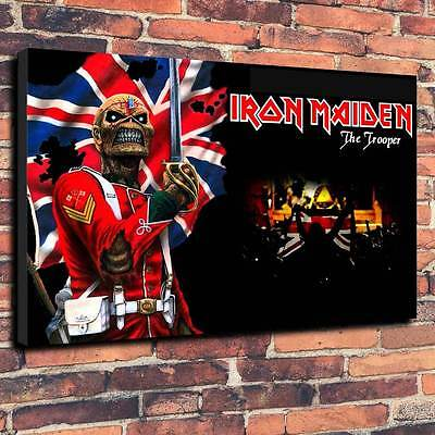 "Iron Maiden Eddie The Trooper Printed Canvas A1.30""x20"" 30mm Deep Frame Metal -"