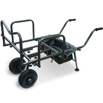 New Ngt Dynamic Carp Fishing Barrow Trolley Double Wheeled Coarse Angling Tackle