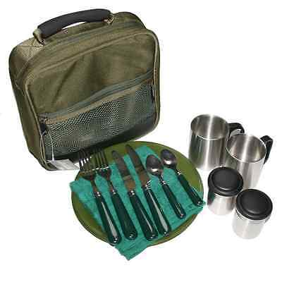 Ngt Deluxe Cutlery Set Carp Coarse Sea Fishing Camping With Bag