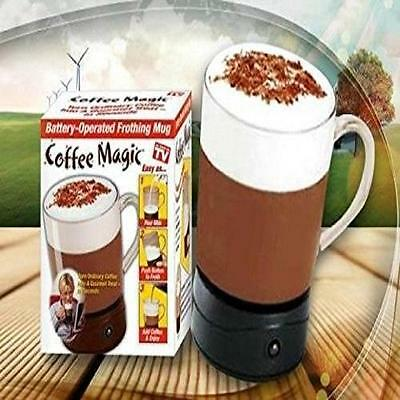 2 Coffee Magic Frothing Mug Self Mixing Hot Chocolate Instant Coffee