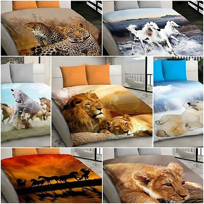 3D Animal Duvet Cover Quilt Covers Reversible Bedding Sets Double Size Panthers