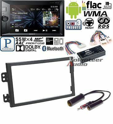 Sony Double Din Media Player Car Radio Install Mount Kit Harness