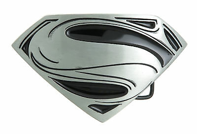 Superman Black/Silver Logo Metal Belt Buckle