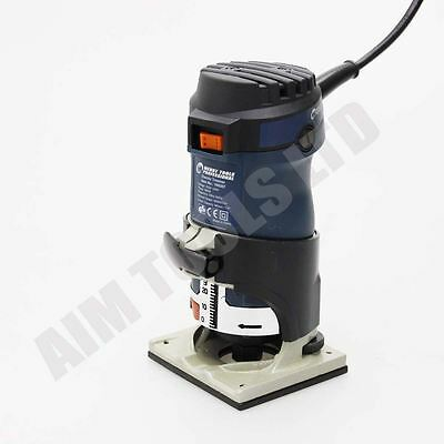 """100307 Professional Electric Wood Trimmer Hand Router 6MM & 1/4"""" 600W UK Plug"""