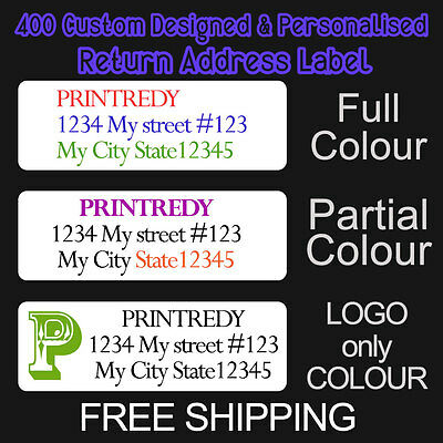 3000 Personalized Return Address Labels-Full Color-Size 1/2 x 1 3/4 Inch