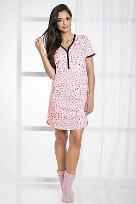 Maternity Nightdress Nightwear Nightie Nursing Gown Breastfeeding Size S-XL