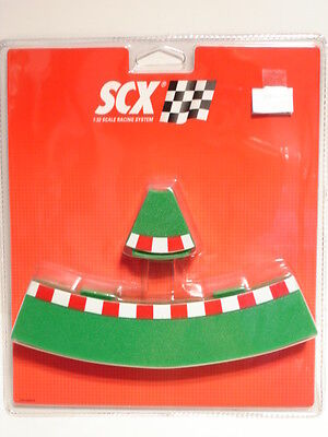 SCX 87940 Analog inner curve borders (4+4 int/ext) pack 1/32 Scale SCX Slot new