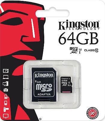 Kingston 64GB Micro SD Card SDXC for Phones - Camera - Tablet - Sat Nav