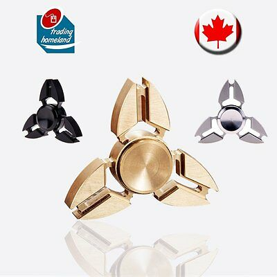 Fidget Hand Spinner Aluminum Metal Alloy Tri bearing EDC Toys Stress Relief Kids