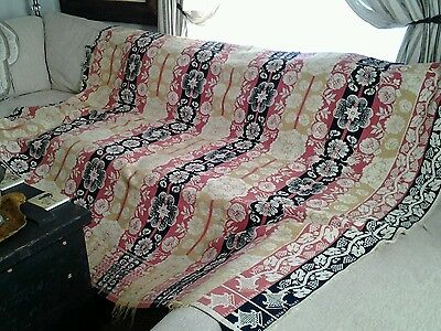 FABULOUS ANTIQUE Dated 1860 Coverlet Stunning Colors