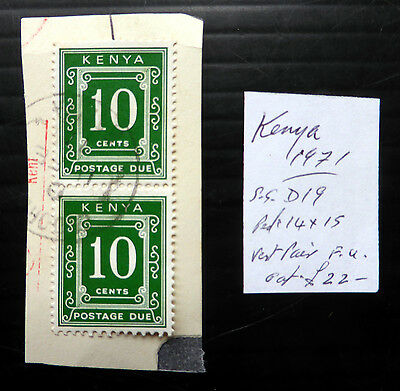 KENYA 1971 Postage Due 10c SGD19 As Described Fine/Used NB1126