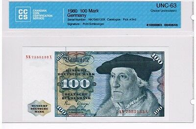 1980 - West Germany - 100 Mark Banknote - UNC63