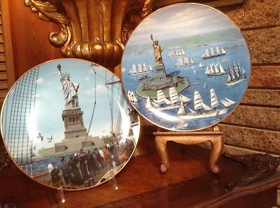 Statue of Liberty The Immigrants/ The Re-Dedication Collectors Plates (Signed)