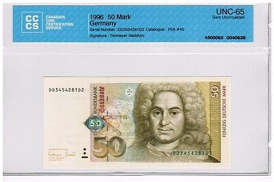 1996 - West Germany - 50 Mark Banknote - UNC65