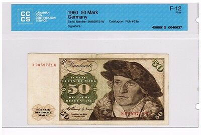 1960 - West Germany - 50 Mark Banknote - F12