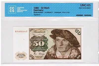 1980 - West Germany - 50 Mark Banknote - UNC65