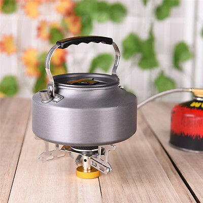 1.1L Ultralight Stainless Steel Water Kettle Teapot Cookware For Outdoor Camping