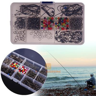 Sea Fishing Rig Set,Makes 50 + Rigs Beads Swivels Crimps Hooks Rings with Box