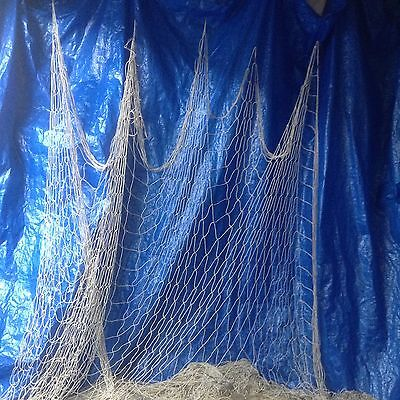 10' X 10' Decorative White/Ivory Real authentic Alaskan fishing net