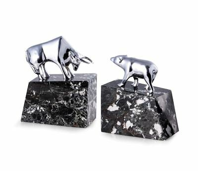 Bey-Berk Model R19X Bull & Bear Solid Brass Bookends