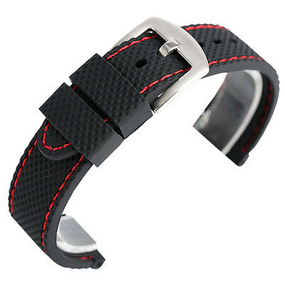 18mm 20mm 22mm 24mm Silicone Watch Band for Men Women Replacement Wrist Strap