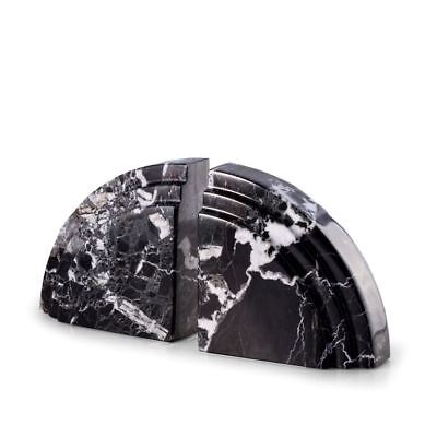 Bey-Berk Model R10J Black Zebra Marble Bookends
