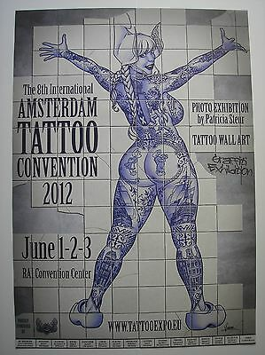 4 diff. posters Tattoo convention Amsterdam original  A2 size