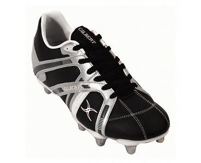 chaussure rugby gilbert boot omega blk/sil/wht 8s taille 41 Neuve