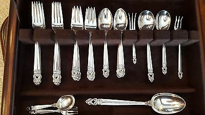 1939 Royal Danish Sterling Silver Flatware Service for 8, 48 pieces