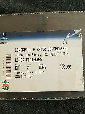 Liverpool v bayer leverkusen ticket