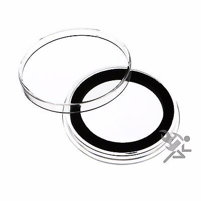 1.5oz Silver Canadian Coin Capsules, Air-Tite Holders X38mm Black Ring, 5 Pack