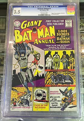 BATMAN ANNUAL #1 CGC 3.5 off-white pages CANADA SELLER 1961