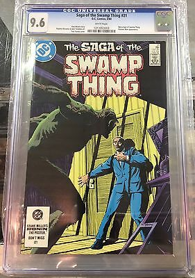 SAGA OF THE SWAMP THING #21 CGC 9.6 white pages CANADA SELLER