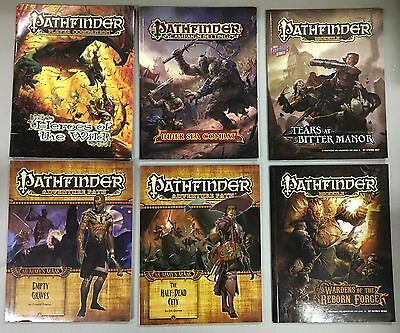 Pathfinder Rpg Book Lot - 8 Items - Tears At Bitter Manor, Mummy's Mask, Map