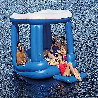 Inflatable Cube Canopy Lounger Lake Water Sports Raft Pool Float Bed Sofa 7' Big
